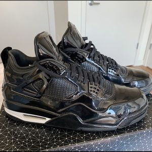 Jordan 4 Retro 11lab4 Black Leather